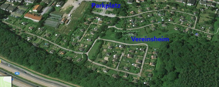 Google Earth Ansicht Kleingartenverein Gartenfreunde Sudfeld e.V. Hagen Halden